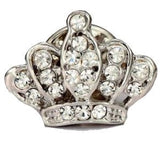 Diamante Crown Lapel Pin