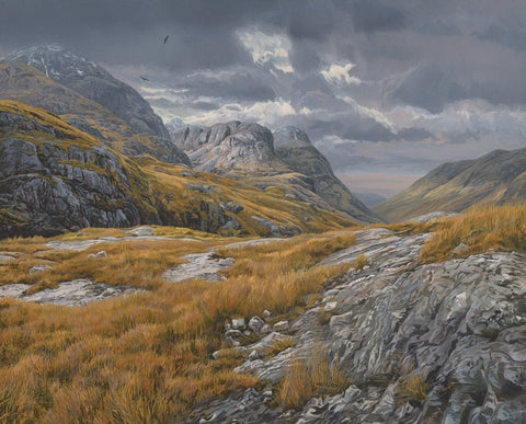 """Eagles above Glen Coe"" Landscape Print"