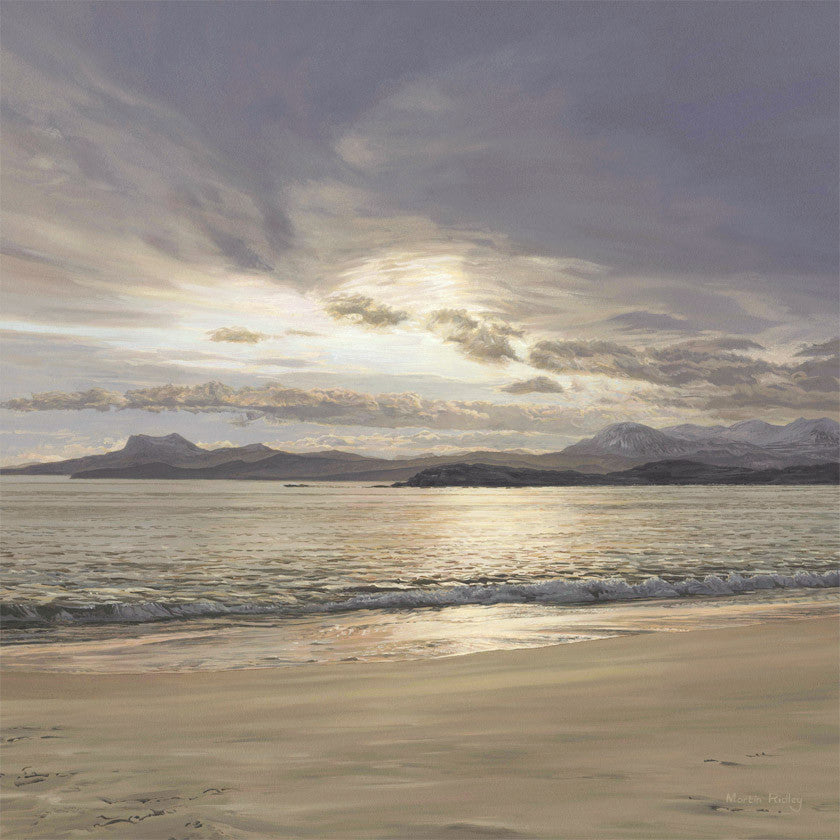 View from scottish beach print - Mellon Udrigle near Laide