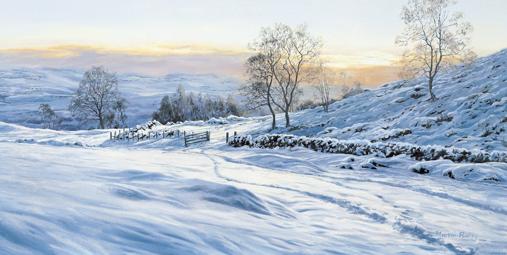 Scottish snow scene picture - the open gate