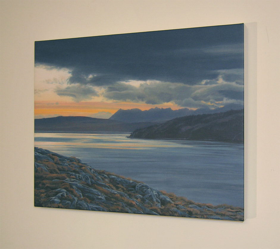 Block Canvas Print of Skye and Loch Hourn from Arnisdale