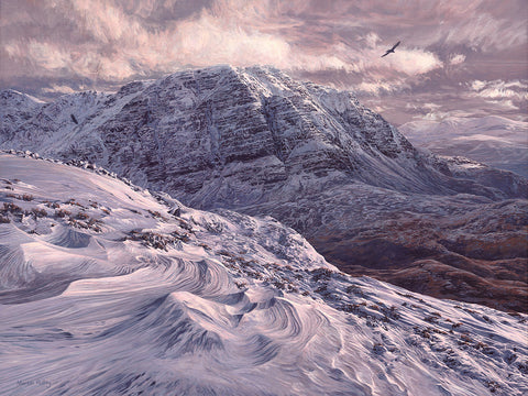 """Slioch in Winter""  Scottish Mountain Landscape Print"