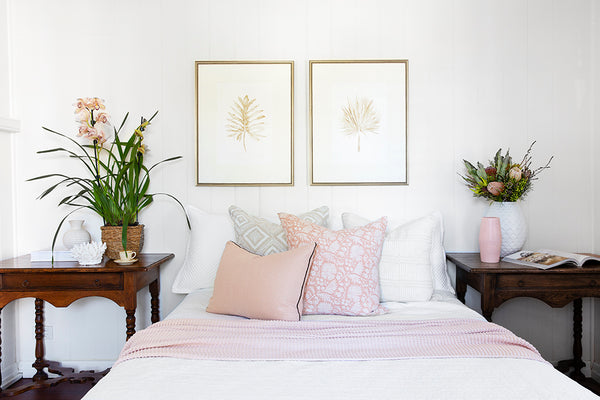 hamptons style bedroom makeover in queenslander cottage