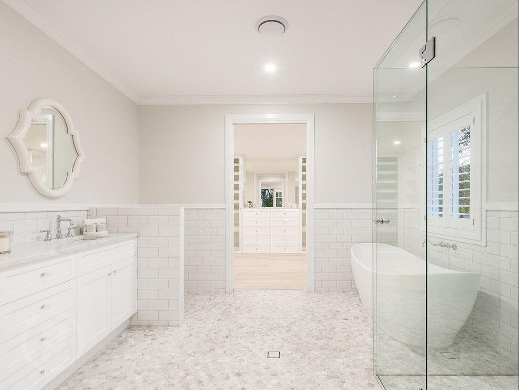Stunning hamptons queenslander style home in brisbane Master bedroom ensuite and dressing room