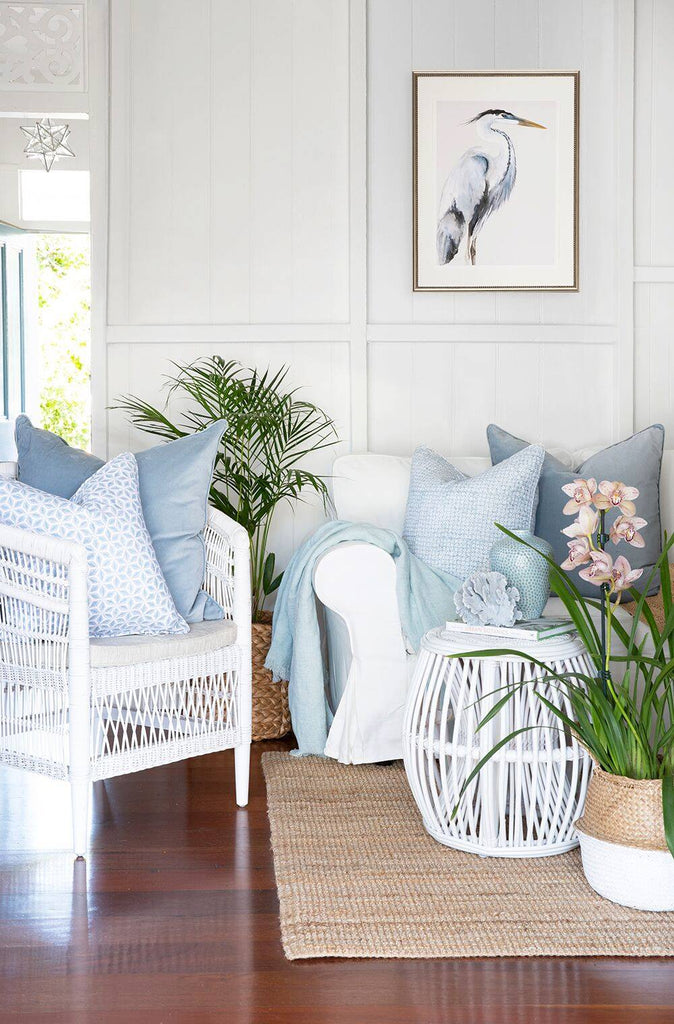 hamptons style living room makeover of clayfield worker's cottage