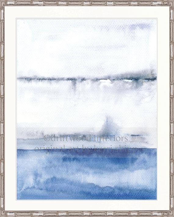Abstract Art Print - 'Coastal Calm I'