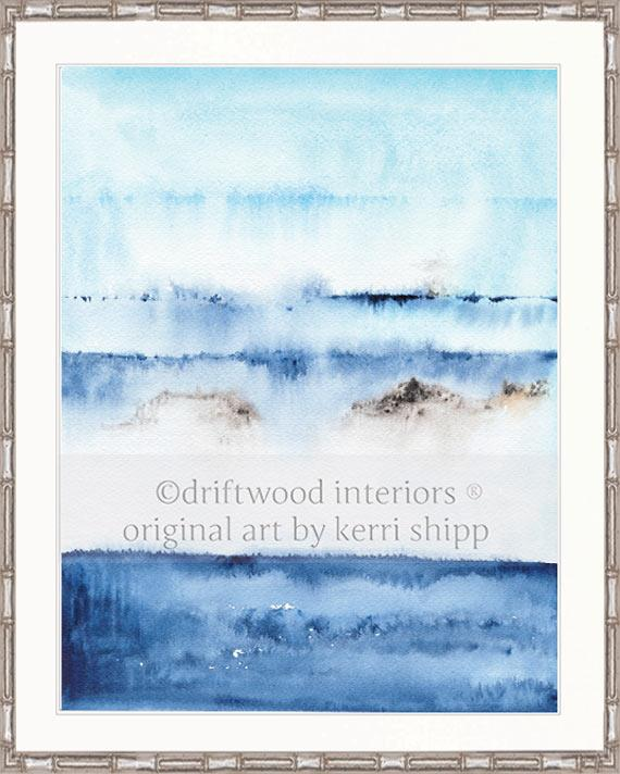 Abstract Art Print - 'Coastal Calm II'