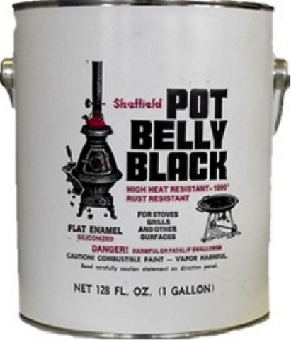 Sheffield 6906 Pot Belly Black High Temperature Finish