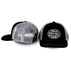 Richardson Trucker Twill Mesh Snapback Cap - Black