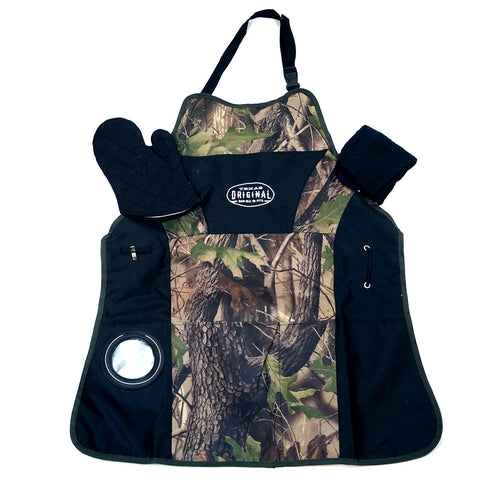 Texas Original Pits n' Smokers Grill Master Apron Kit - Camo Tree