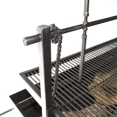 Hog Roaster with adjustable top Grill