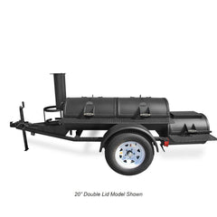 Portable Luling Smoker - Trailer Mounted