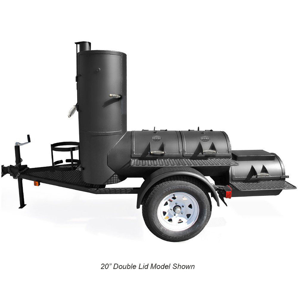 portable pearsall vertical smoker for sale trailer mounted