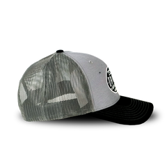 Richardson Trucker Twill Mesh Snapback Cap - Grey