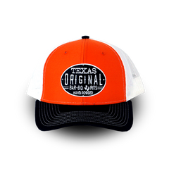 Richardson Trucker Twill Mesh Snapback Cap - Red
