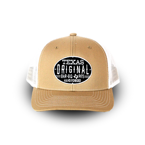 Richardson Trucker Twill Mesh Snapback Cap - Tan