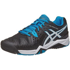 Asics Gel Resolution 6 Black/Blue Jewell/ White Men's Shoes - Pickleball US