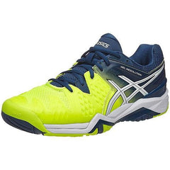 Asics Gel Resolution 6 Safety Yellow/White/Poseidon Men's Shoes - Pickleball US