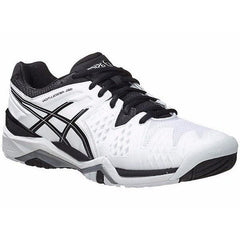 Asics Gel-Resolution 6 White/Black/Silver Men's Shoes - Pickleball US