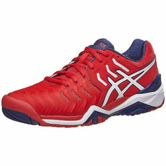 Asics Gel Resolution 7 True Red/White/Indigo Blue Men's Shoes - Pickleball US