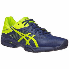 Asics Gel Solution Speed 3 Indigo Blue/Safety Yellow Men's Shoes - Pickleball US