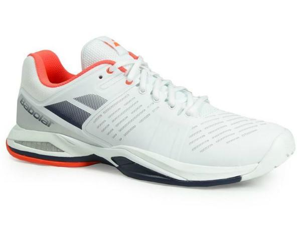 Men's Shoes - Babolat Propulse Team All Court White/Blue Men's Shoes