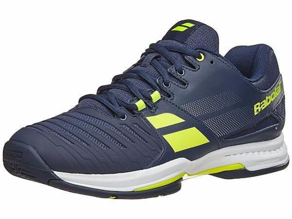 Babolat SFX2 Blue/Yellow All Court Men's Shoes - Pickleball US