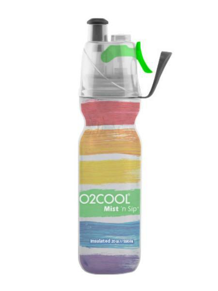 O2 Cool Mist 'N Sip 20oz. Bottle Watercolor Collection - Pickleball US