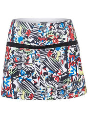 Bolle Gianna Skort Graphite/Print 8614-23-2018 - Pickleball US