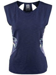 Women's Apparel - Eleven Thika Center Stage Cap Sleeve Blue Nights TH1202-405