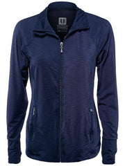 Women's Apparel - Eleven Thika Finish Line Jacket Blue Nights TH8102-405