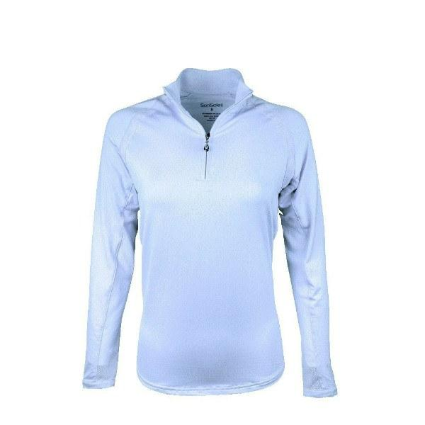 San Soleil Long Sleeve Zipper Mock White - Pickleball US