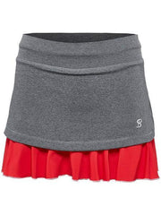 Women's Apparel - Sofibella Conquest 14'' Skort Steel Grey/Red 1679-stl/red