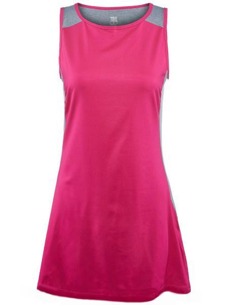 Women's Apparel - Tail Match Point Color Blocked Dress Wild Strawberry TF2324-4001