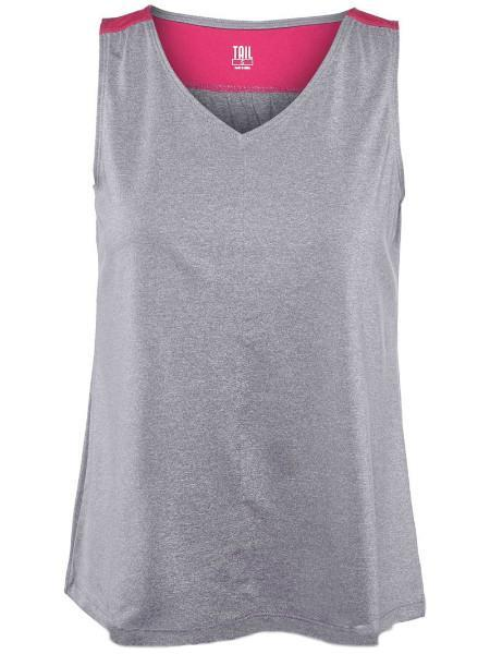 Women's Apparel - Tail Match Point V-Neck Tank Frosted Heather TF2080-5601