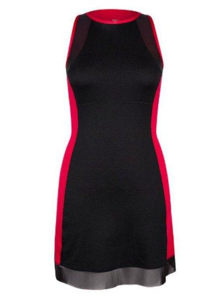 Tail Serve's Up Capsleeve Dress Matador Red/Back TE2316-1651 - Pickleball US  - 1