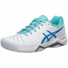 Asics Gel Challenger 11 White/Diva Blue/Aqua Splash Women's Shoes - Pickleball US