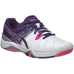Asics Gel Resolution 6 White/Parachute/Purple/Hot Pink Women's Shoes - Pickleball US