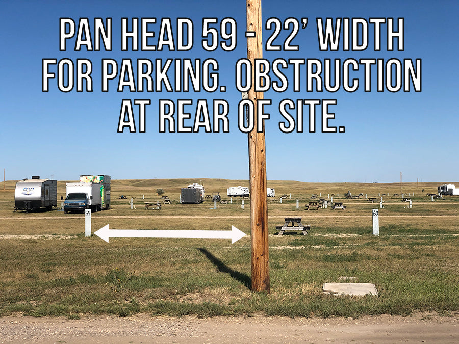 2021 Pan Head RV Park - PULL THROUGH SITES Sites 1 - 72