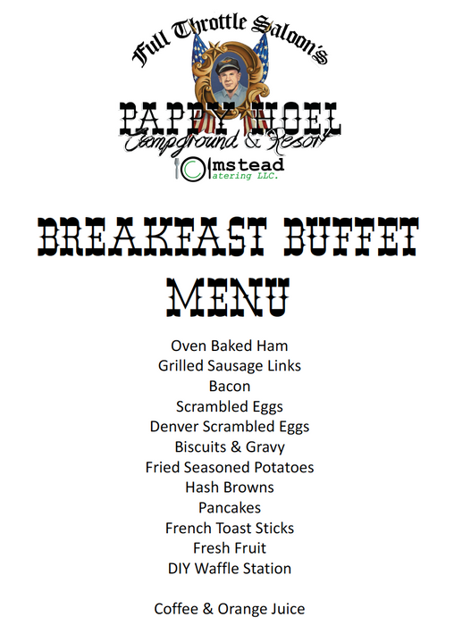 2021 Combo Breakfast & Dinner Package