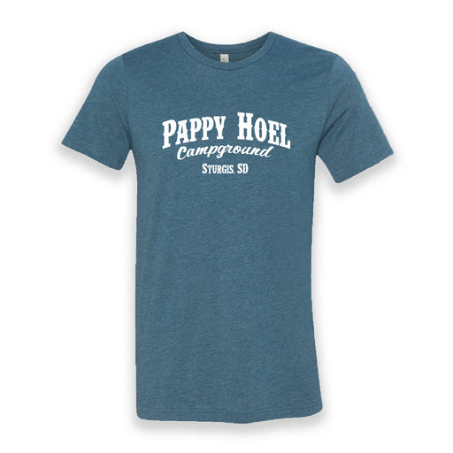 Pappy Hoel Campground Tee -  HEATHER BLUE
