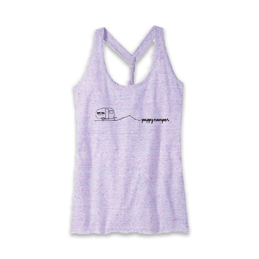 Ladies Pappy Camper Tank -- PINK/WHITE COSMIC
