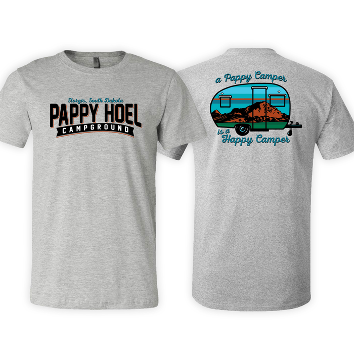 Pappy Hoel Camper Color Tee - HEATHER GREY
