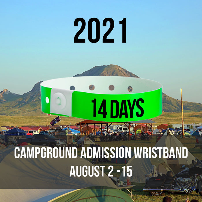 2021 - Aug 2nd - Aug 15th Campground Admission Wristband