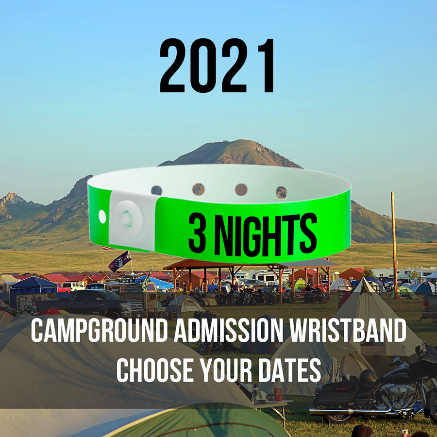 2021 - 3 Night Tent Campground Admission Wristband