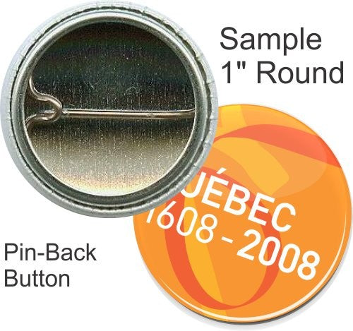 PBR - Pin-back Round Button Custom Size