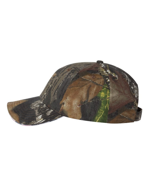 LC924- Camouflage Cap with American Flag Sandwich Bill