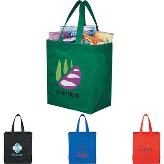 SM-7411 - Liberty Heat Seal Non-Woven Grocery Tote