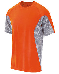 222213 - Holloway Youth Polyester Short Sleeve Training Tidal Shirt