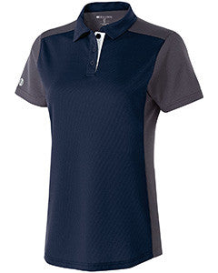 222386 - Holloway Ladies' Polyester Closed-Hole Division Polo